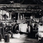 Grandfather's garage at home, Horley, 1928