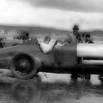 At Pendine Sands in 1924, where Grandfather set his first world land speed record of 146.16 mph