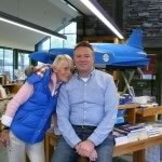 Here I am with Neil Sheppard in The Ruskin Museum Shop, which stocks his new book