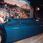 "In Grandfather's Bluebird V which set a world land speed record of 276.82 mph in 1935 at Daytona Beach. Sixty one years later, in 1996, the car arrived at Daytona USA ""The Ultimate Motorsports' Attraction."""