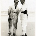 With Leo Villa on the beach at Daytona (note the shoes!)